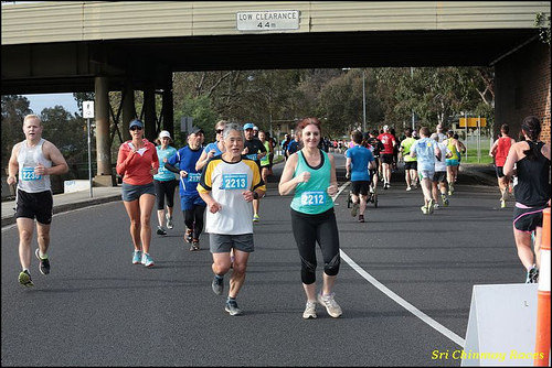 Sri Chinmoy Yarra Boulevard, Melbourne, 21st September 2014:- Half Marathon, 10km & 5km Run