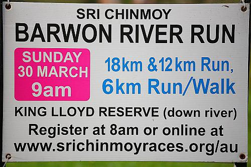 Sri Chinmoy: Barwon River, Geelong: 30th March 2014