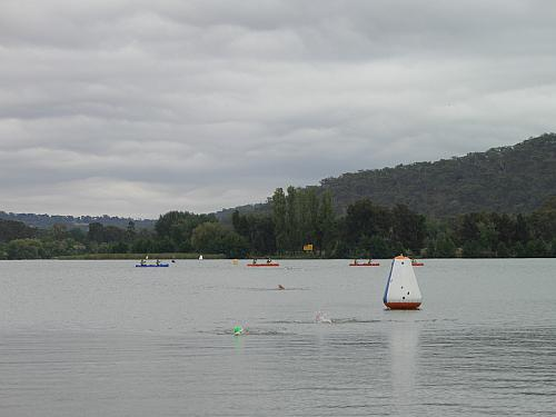 In the middle distance, you can see young naval recruits in canoes doing exercises on the lake