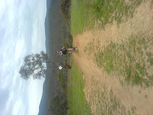 Cyclist heads off into the wilds of Googong