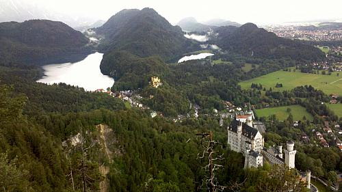 Neuschwanstein and Schwansee / Newswanstone and Swanslake