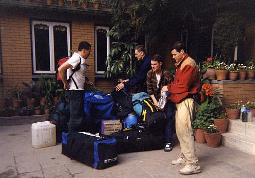 Us with our personal expedition equipment