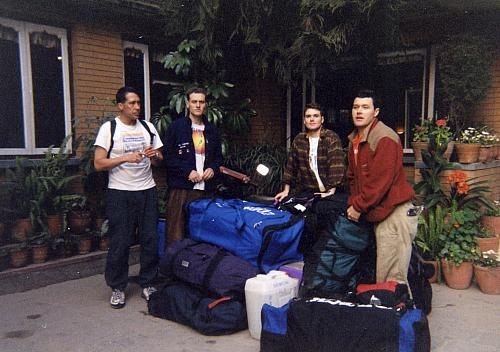 Getting ready to leave Kathmandu on the bus to Tibet