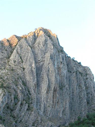 150m high rock in the Matka canyon