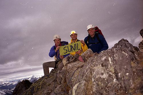On the summit with the late great Sunil