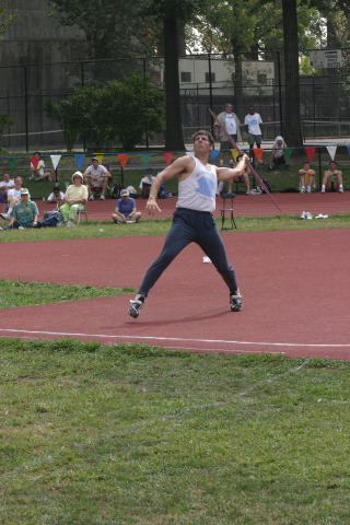 Durdam Rocherolle competing in the javelin.
