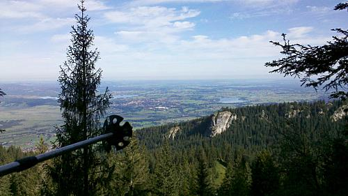 A view to lake Starnberg and Munich (@far end)
